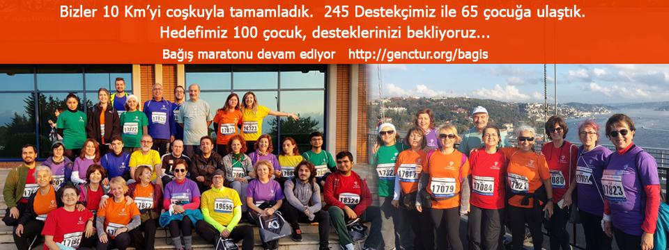 36 Gönüllü 10 Km Koştu